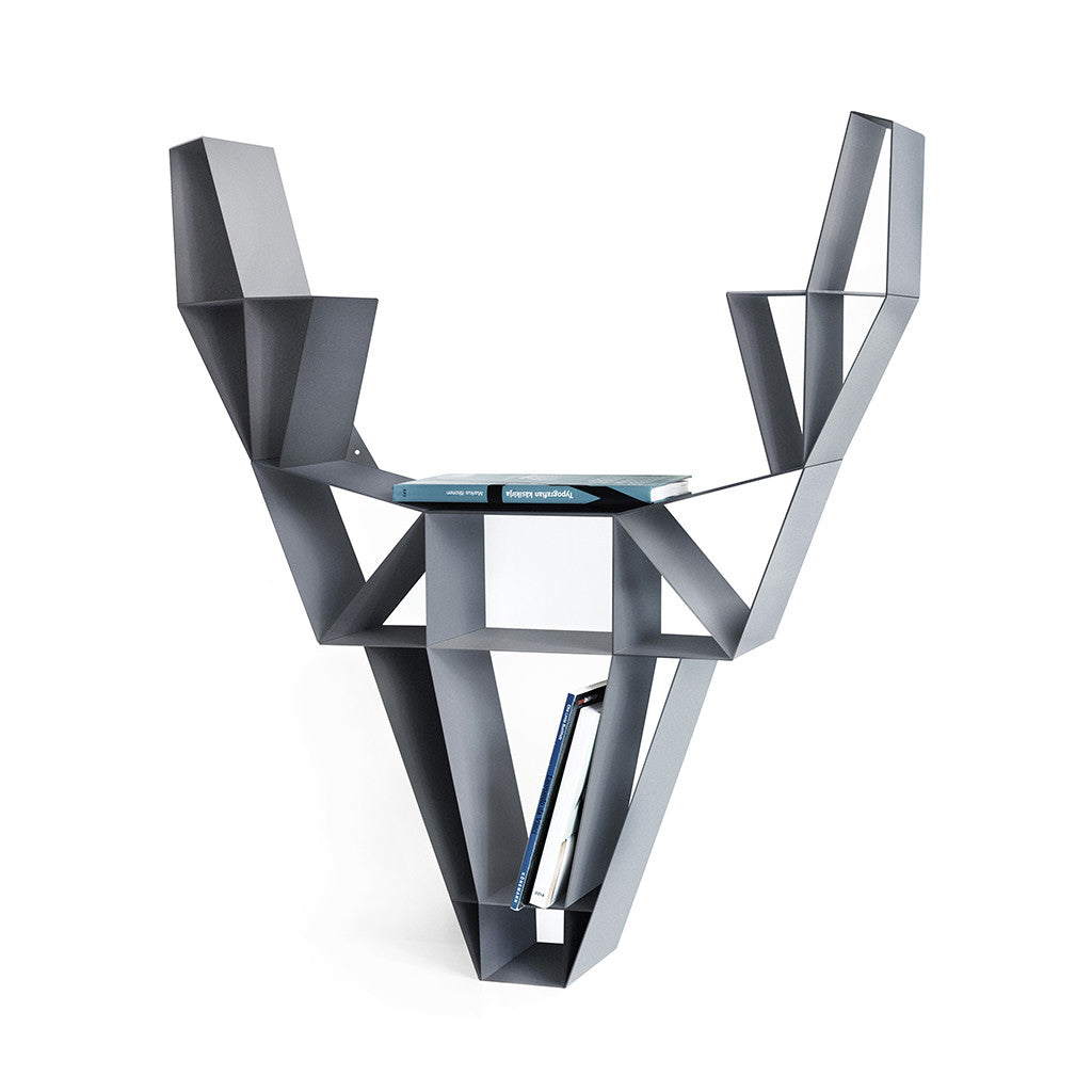 Small Deer Shelf in Charcoal Black by BEdesign - Made Modern - 1