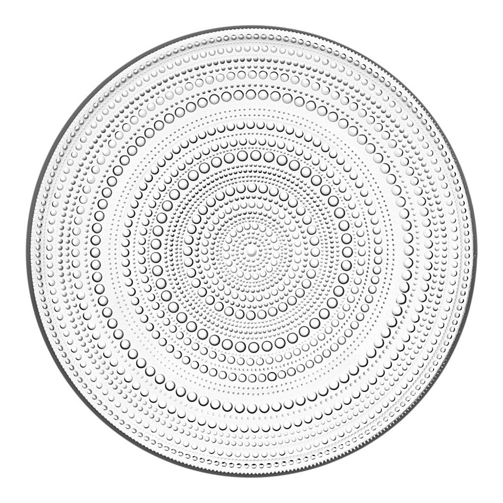 Large Kastehelmi Plate in Clear by Iittala - Made Modern