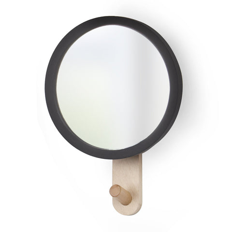 Hub Mirror Hook in Black by Umbra - Made Modern - 3