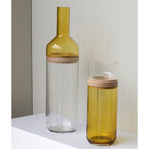 Duo Bottle Vase PM  in Amber by ComingB - Made Modern - 2