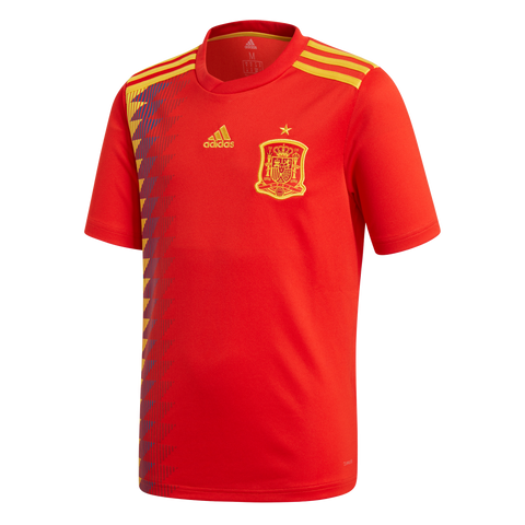 adidas Spain Home Youth Jersey 2018