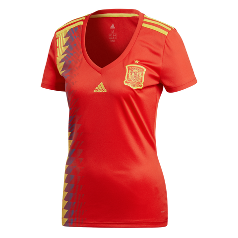 adidas Spain Womens 2018 Home Jersey