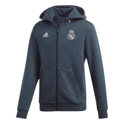 adidas Real Madrid Kids Full Zip Hoodie