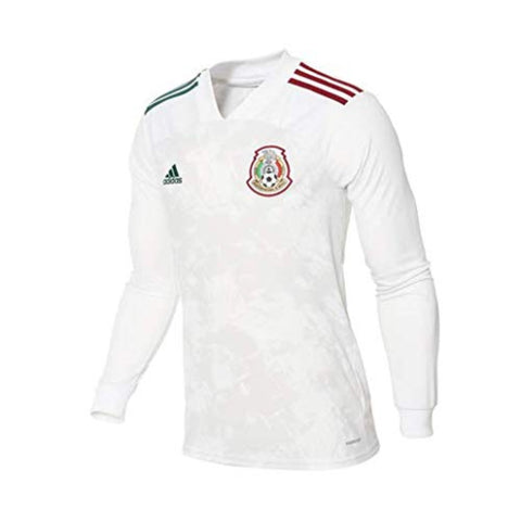 adidas Mexico Away Long Sleeve Mens Soccer Jersey- 2020 GC7942