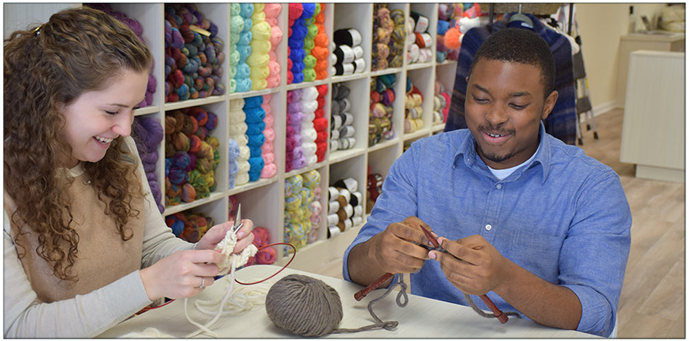 Learn to Knit like a Champion at our Classes!