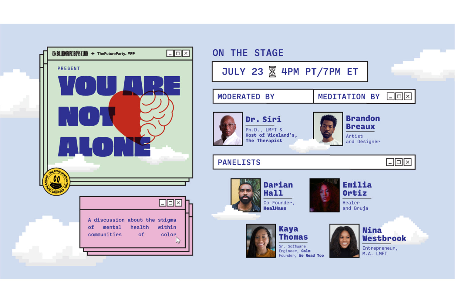 Event Recap: You Are Not Alone Virtual Conversation