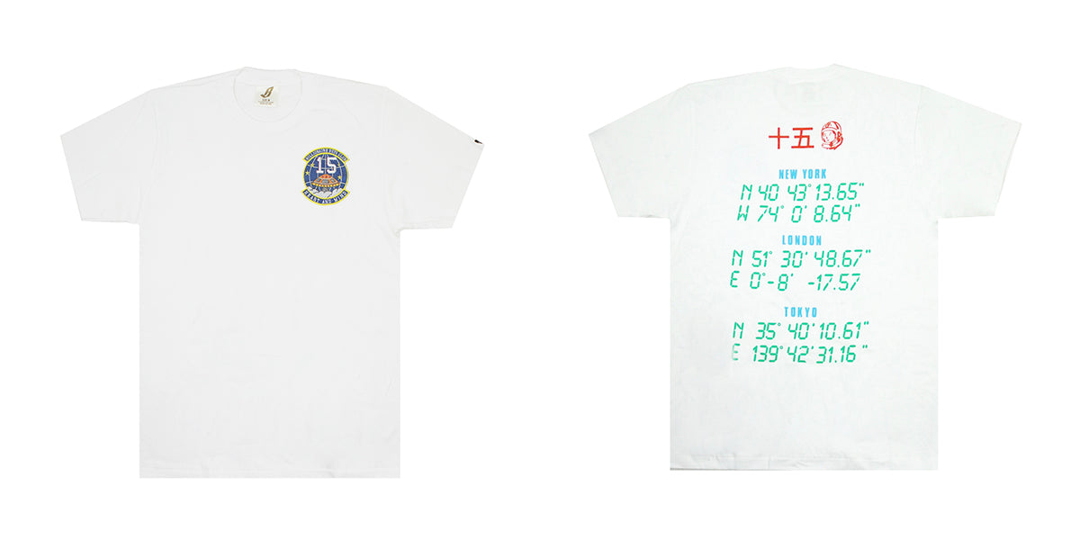 8e4d9e9fbd88 ... BBC ICECREAM 15th year anniversary emblem and coordinates of the three  Flagship stores in NYC