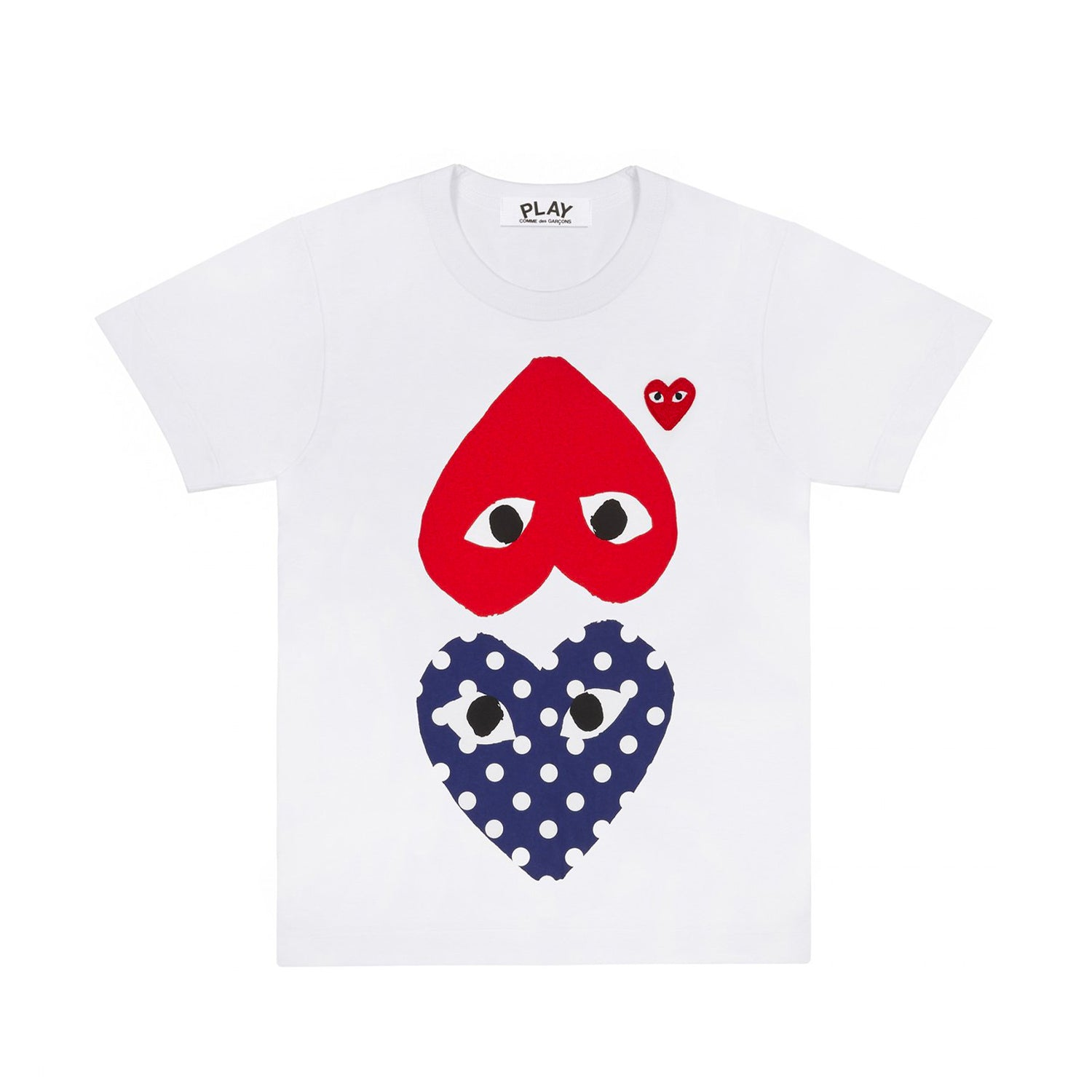 POLKA DOT HEART AND RED HEART T-SHIRT