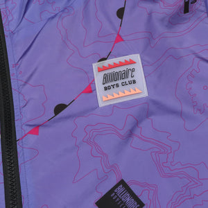 NAUTICAL PRINT NYLON WINDBREAKER