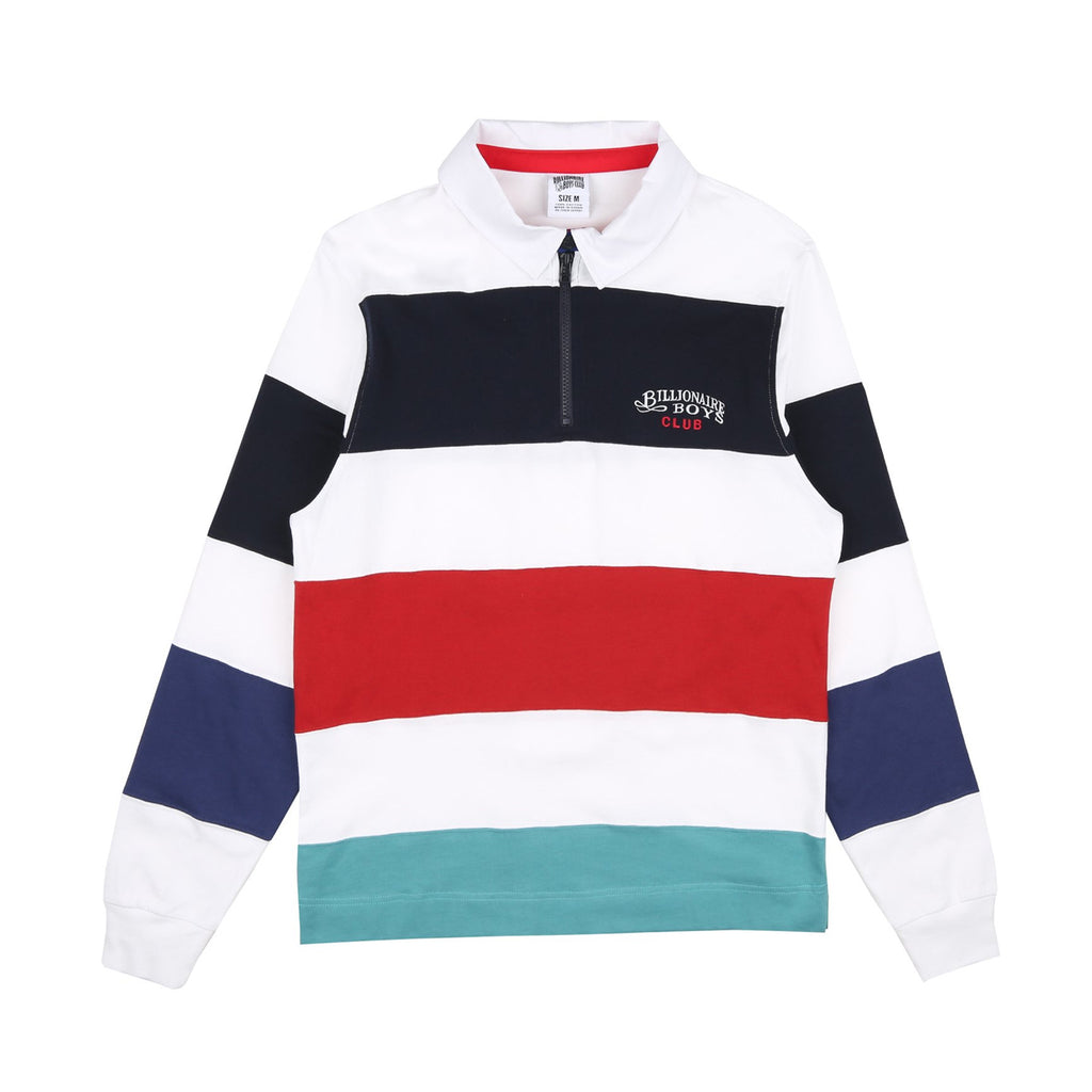 STRIPED ZIP RUGBY