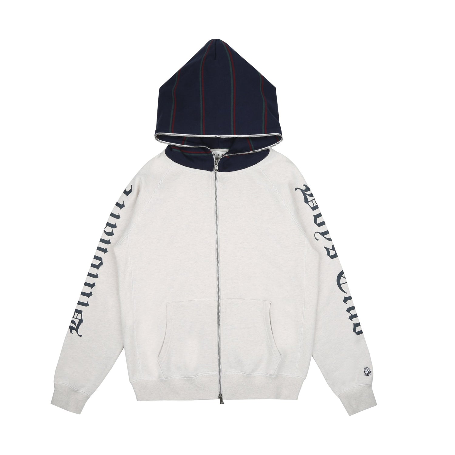CONTRAST STRIPE ZIP-THROUGH HOOD