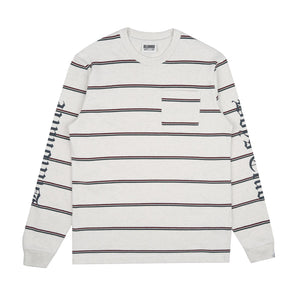 STRIPED L/S POCKET T-SHIRT