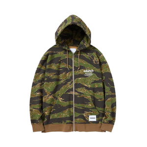 OVERLAP TIGER / C-ZIP HOODED LS