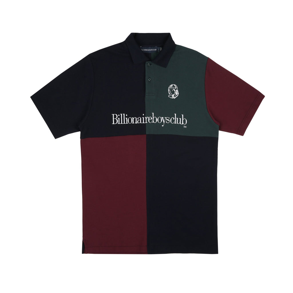 PANELLED PIQUE POLO SHIRT