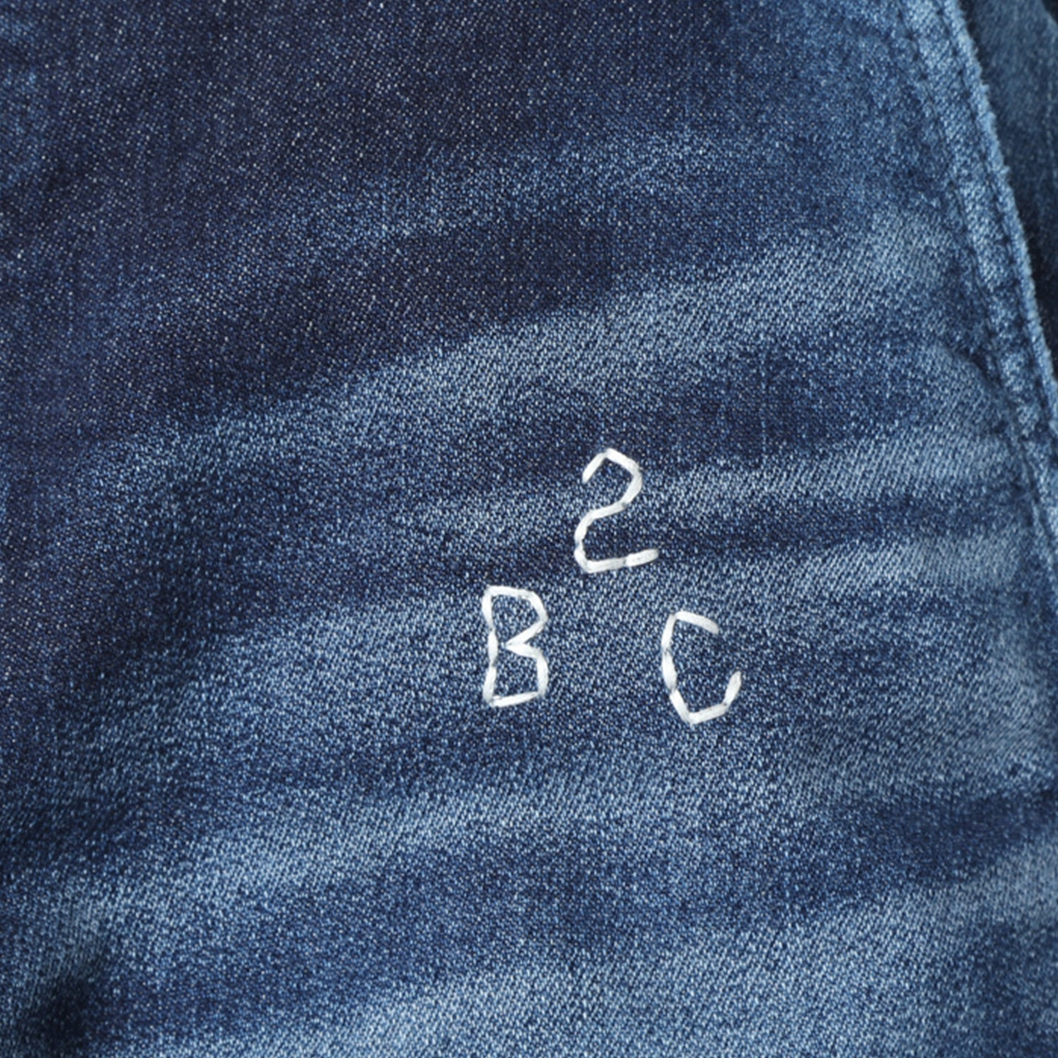 BBC X FDMTL CROPPED FAKE KNIT DENIM