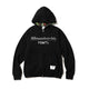 BILLIONAIRE BOYS CLUB x FDMTL ZIP UP HOODIE / BLACK / S
