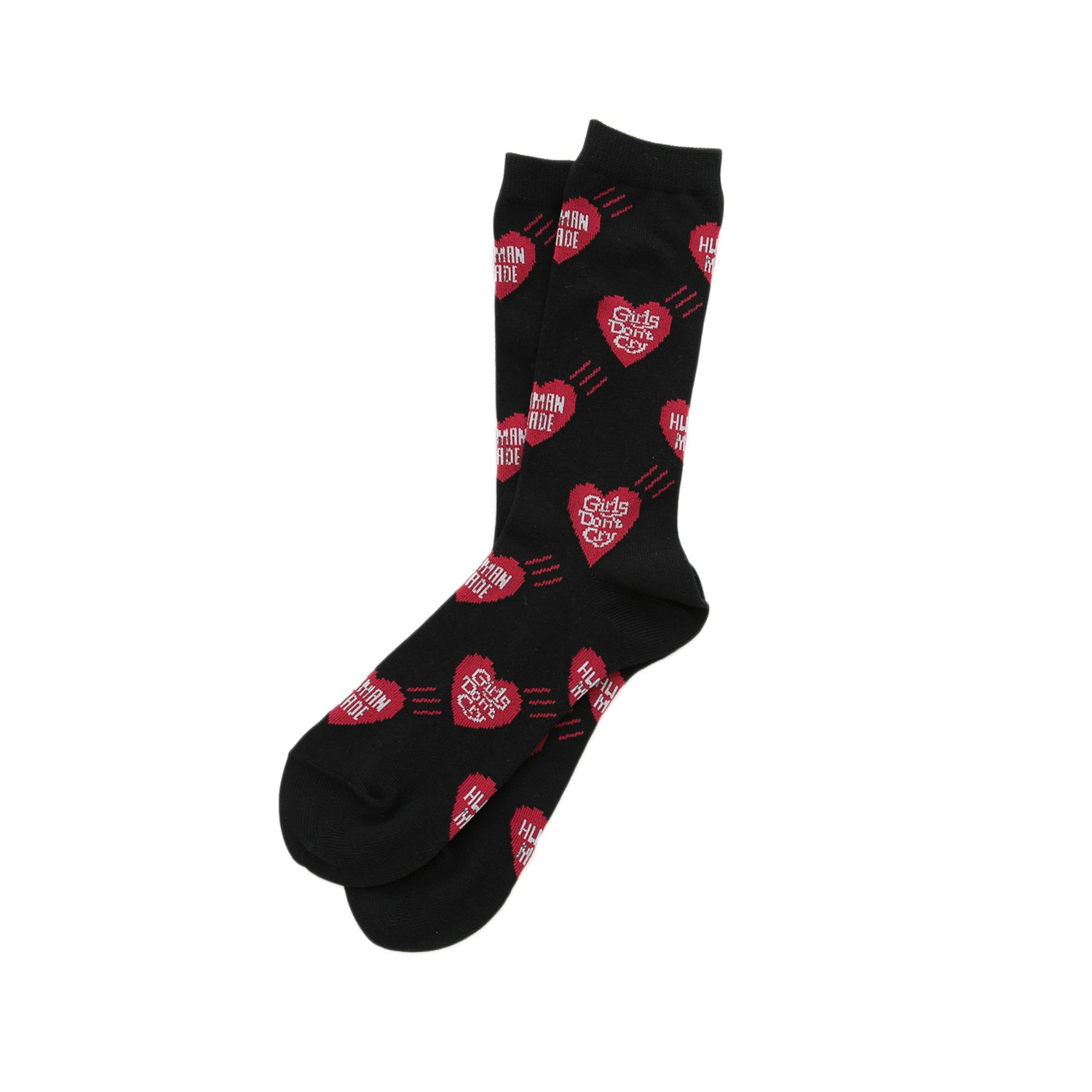 HUMAN MADE x GIRLS DON'T CRY HEART PATTERN SOCKS