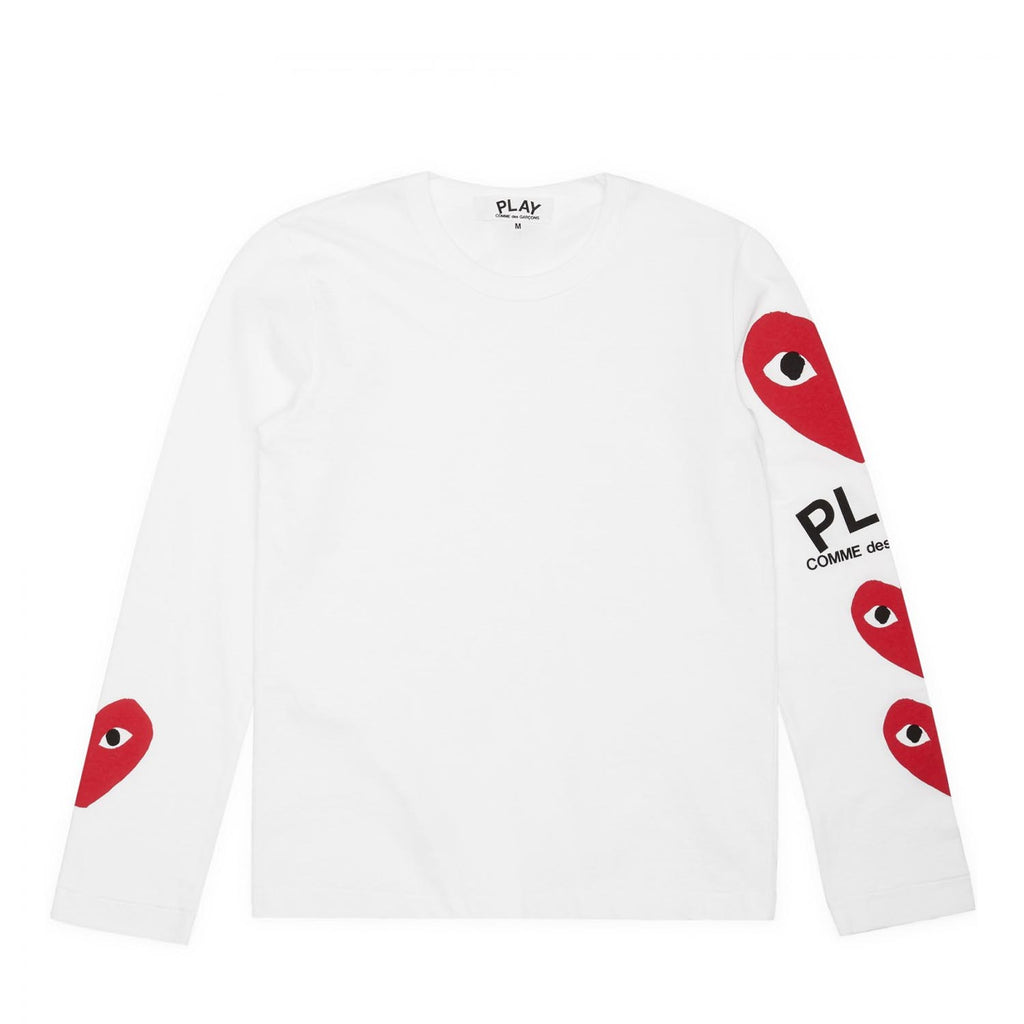 PLAY 3 HEART LONG SLEEVE TEE