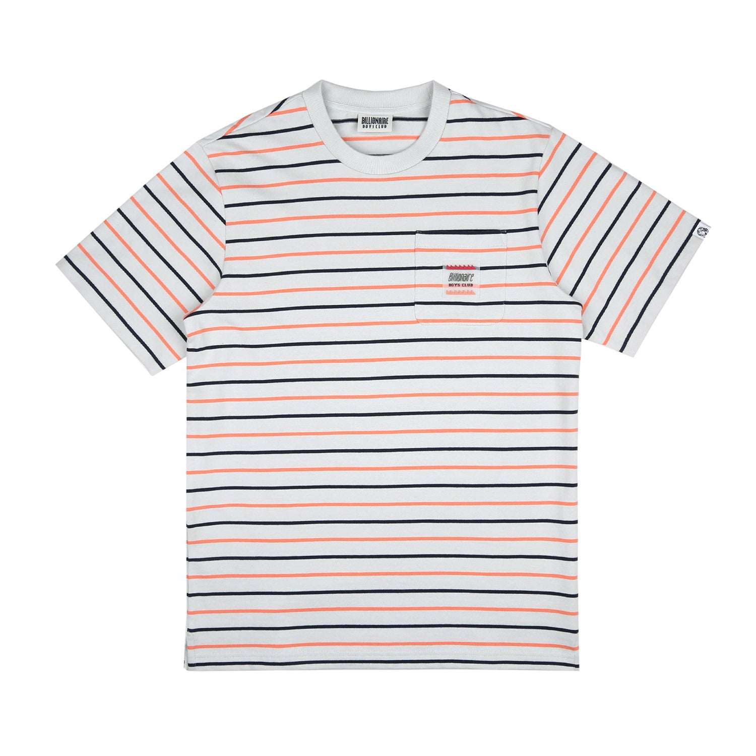 WOVEN STRIPE POCKET T-SHIRT