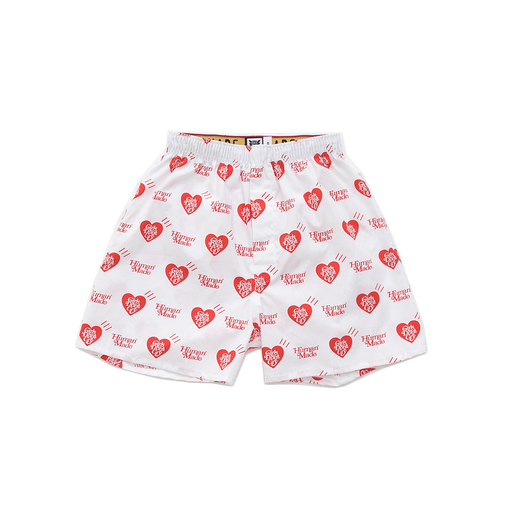 HUMAN MADE x GIRLS DON'T CRY HEART BOXER SHORTS