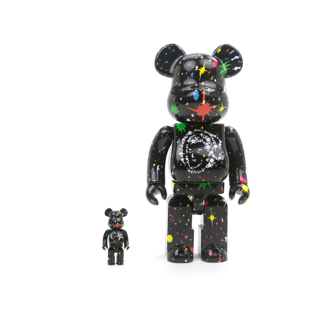 BBC x MEDICOM TOY BLACK STARFIELD BE@RBICK SET 100% & 400%
