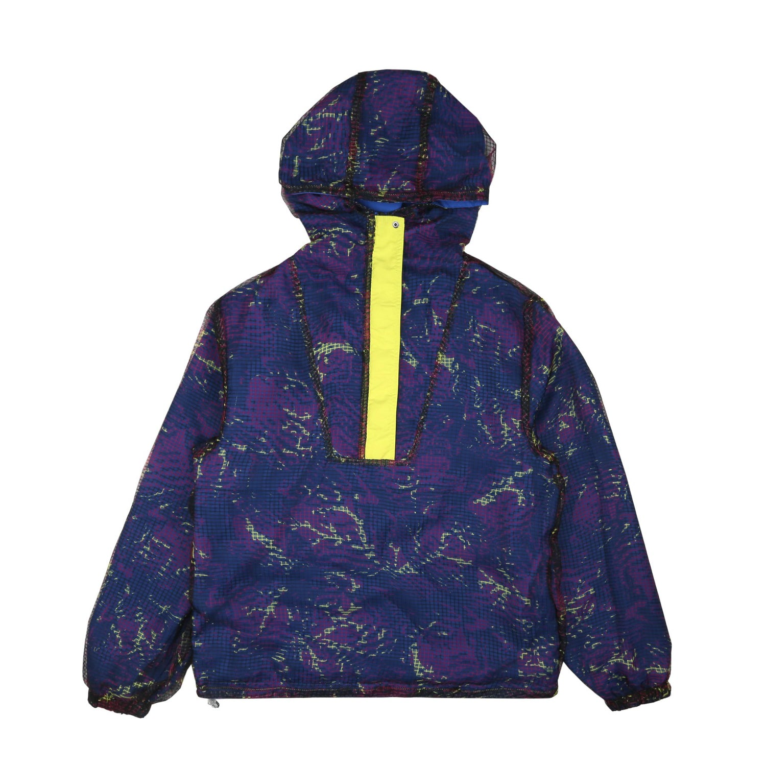 REVERSIBLE FISH CAMO NYLON JACKET