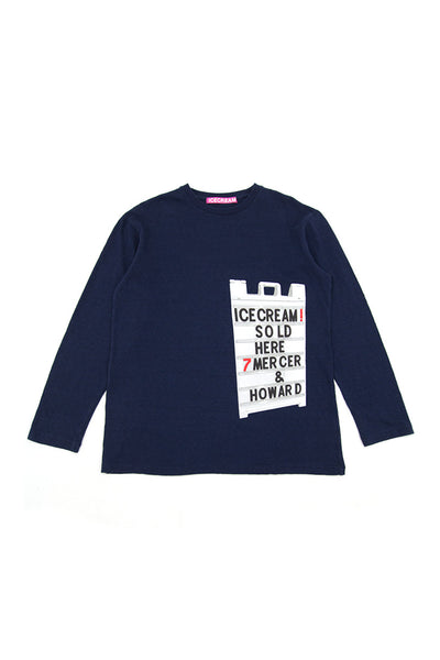 7 MERCER L/S TEE NAVY
