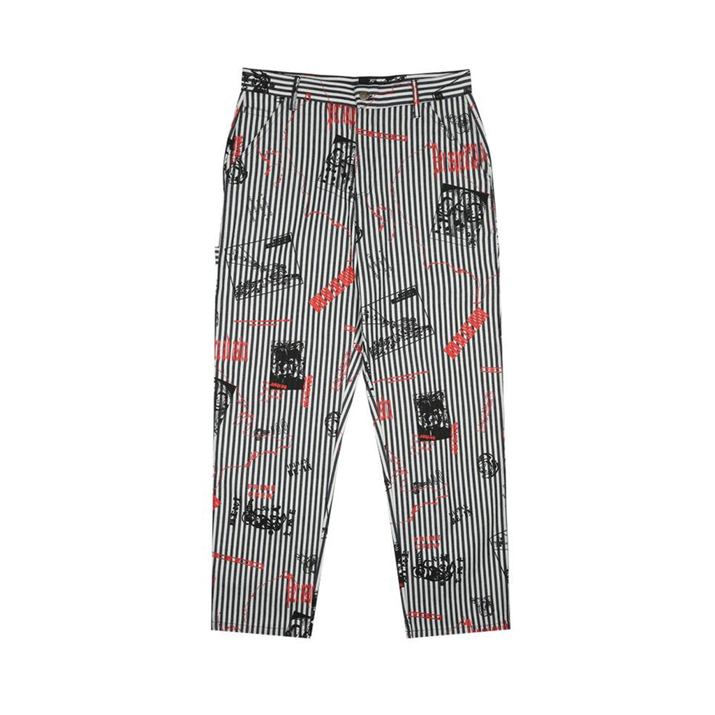 HEADLINE PRINT PAINTER PANT
