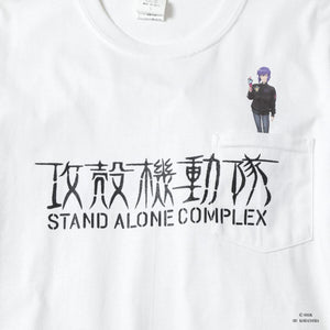 ICECREAM X GHOST IN THE SHELL MOTOKO KUSANAGI POCKET T-SHIRT