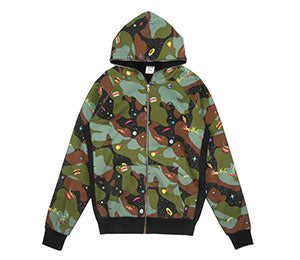 Billionaire Boys Club ALL OVER SPACE CAMO ZIP HOOD
