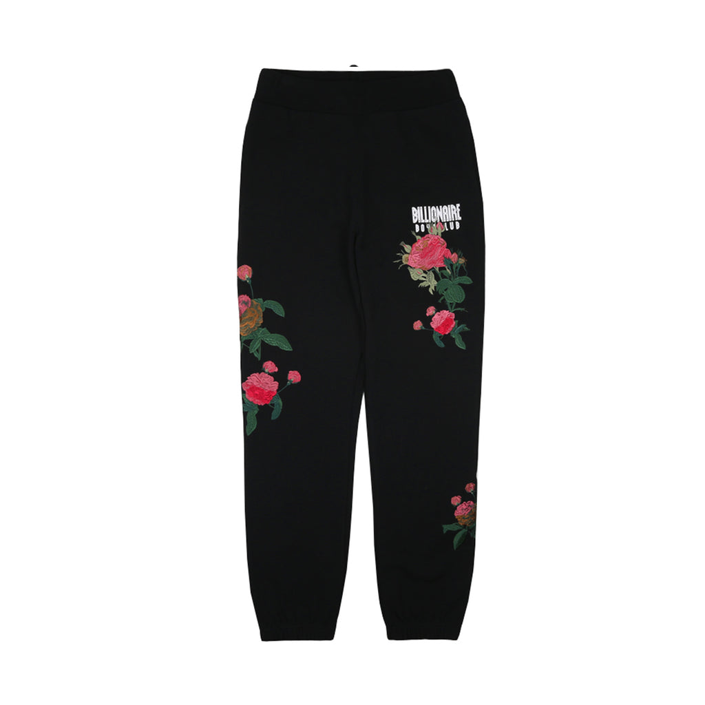 EMBROIDERED FLORAL SWEATPANT