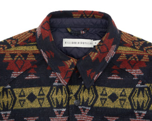 BLANKET PATTERN OVERSHIRT
