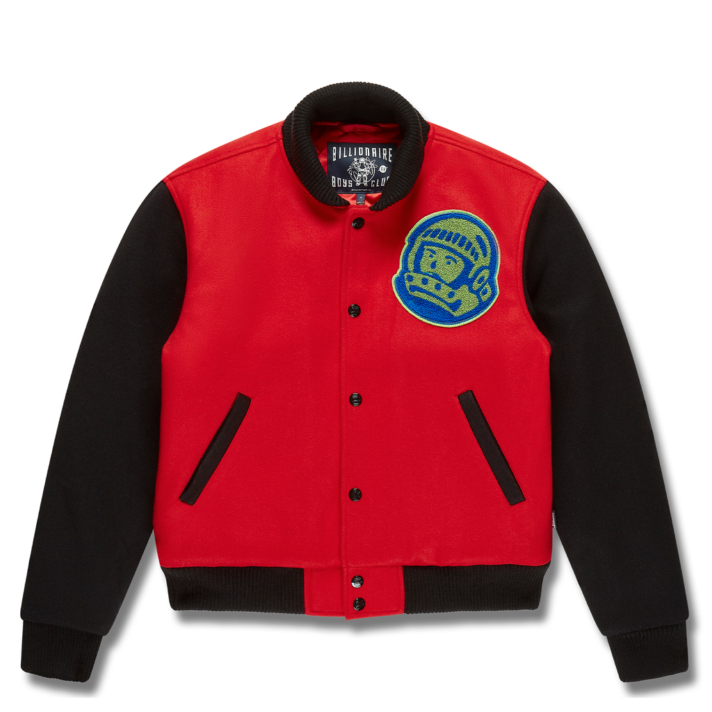 MOUNTAIN LOGO VARSITY JACKET