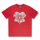 HEART & MIND GRAPHIC T-SHIRT / RED / S