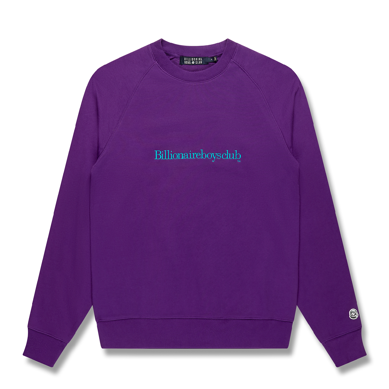 EMBROIDERED SERIF LOGO CREWNECK