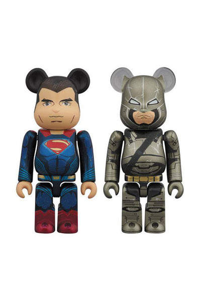 Superman & Armored Batman 2 Pack Be@rbrick