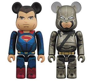 Medicom Superman & Armored Batman 2 Pack Be@rbrick