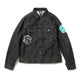 DOLLAR CHENILLE PATCH DENIM JACKET / BLACK / S