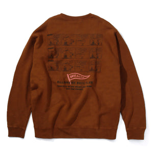 BILLIONAIRE BOYS CLUB × PEANUTS HAPPY 1973 OVERDYED CREWNECK SWEATSHIRT