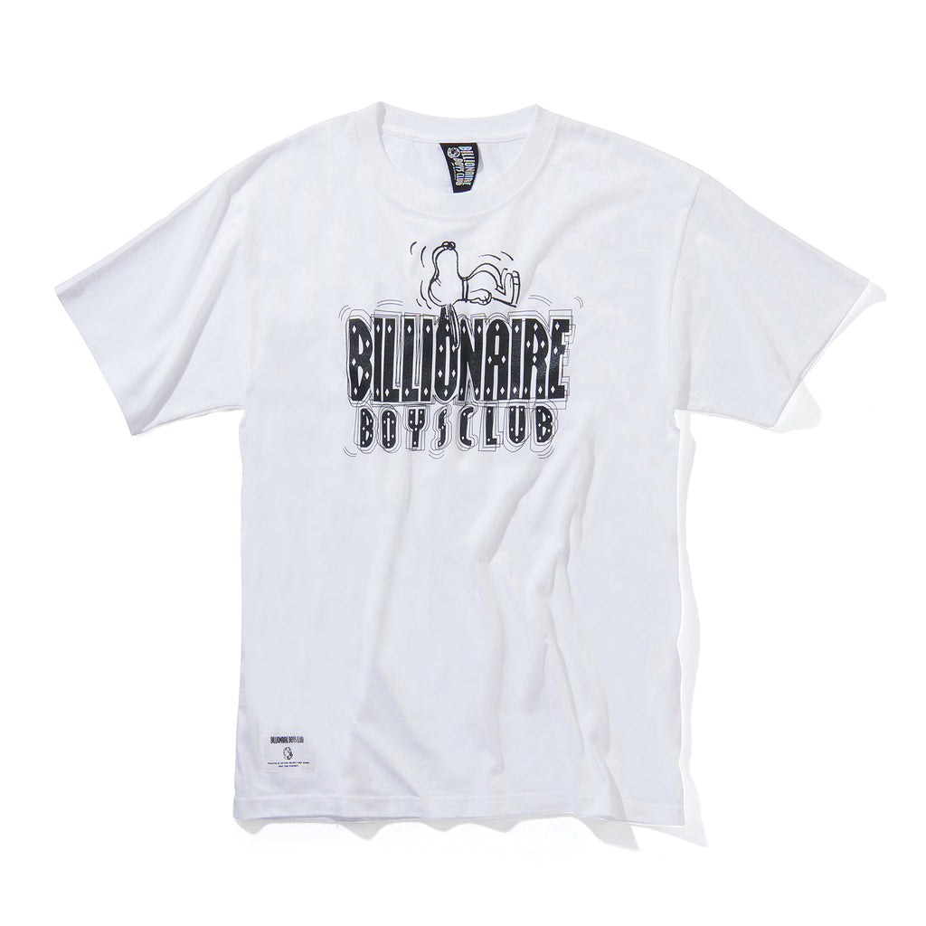 BILLIONAIRE BOYS CLUB × PEANUTS STRAIGHT LOGO T-SHIRT