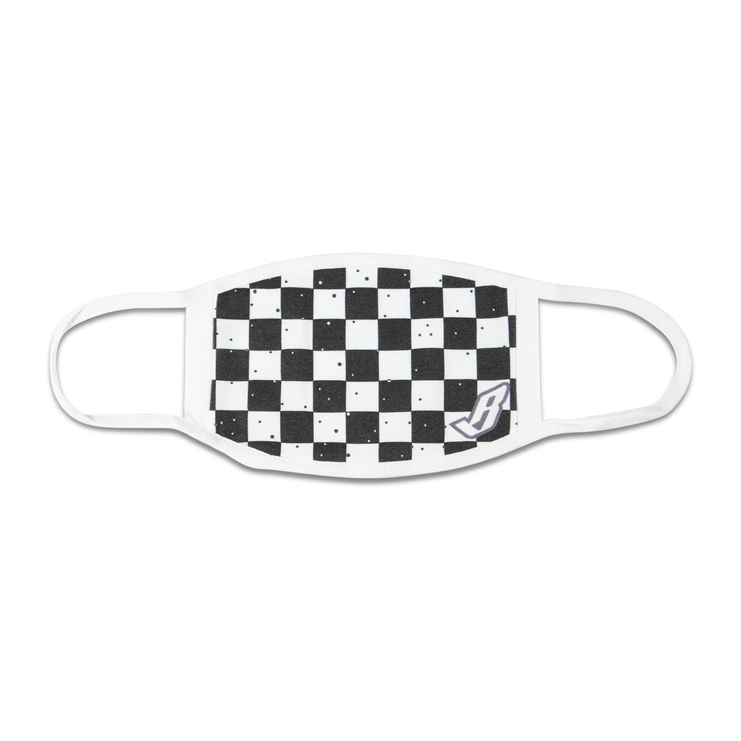 FLOATING B CHECKERED FACE MASK