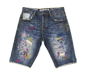 Billionaire Boys Club PAINTED DENIM SHORTS