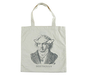 HERRINGBONE TOTE BAG BEETHOVEN