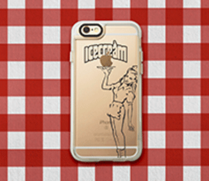 Casetify Icecream Diner Girl Iphone Case