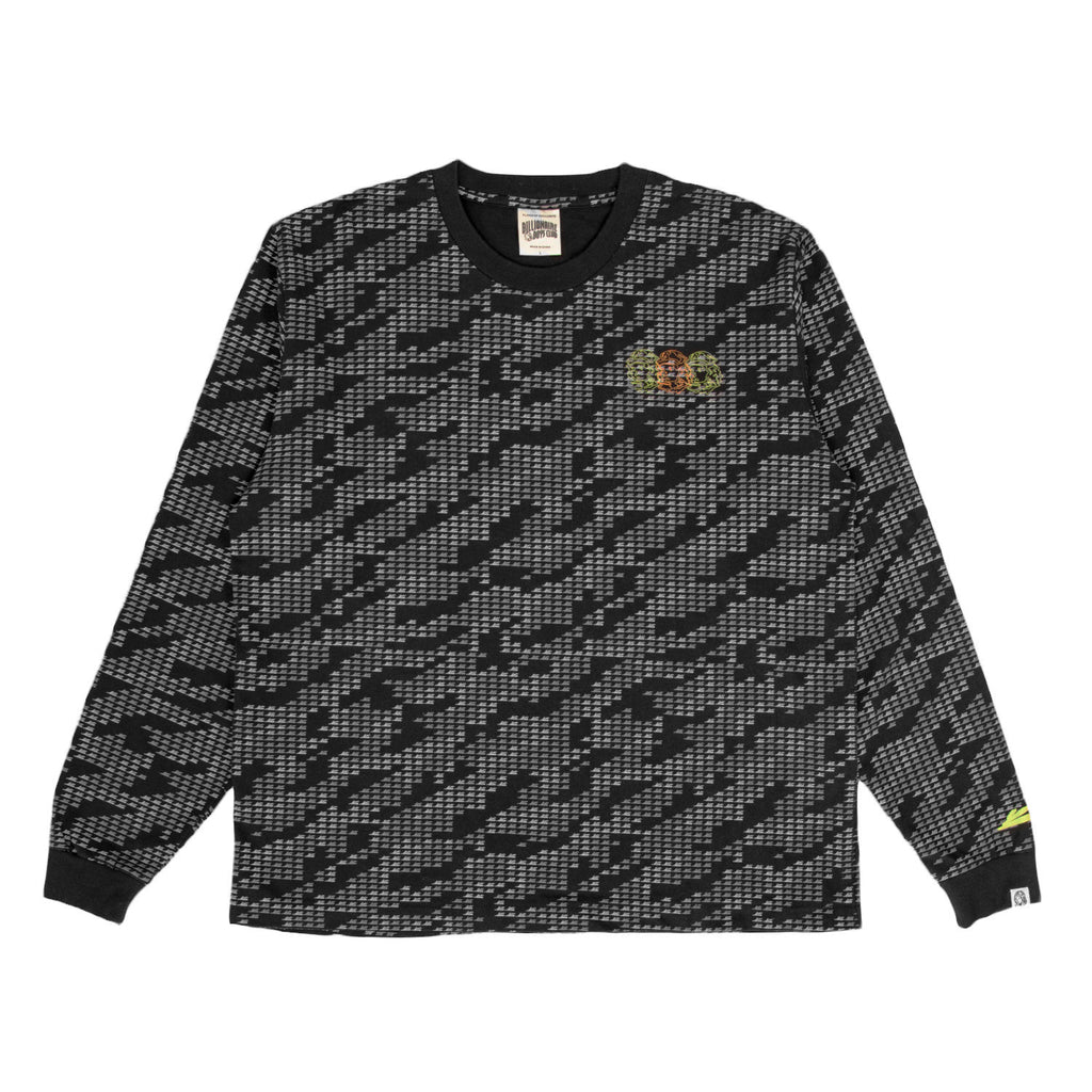 BBC X CDL GLITCH ALL OVER L/S T-SHIRT