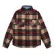 CHECK FLANNEL SHIRT / GREEN / S