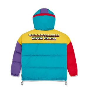 COLOUR BLOCK PUFFER JACKET