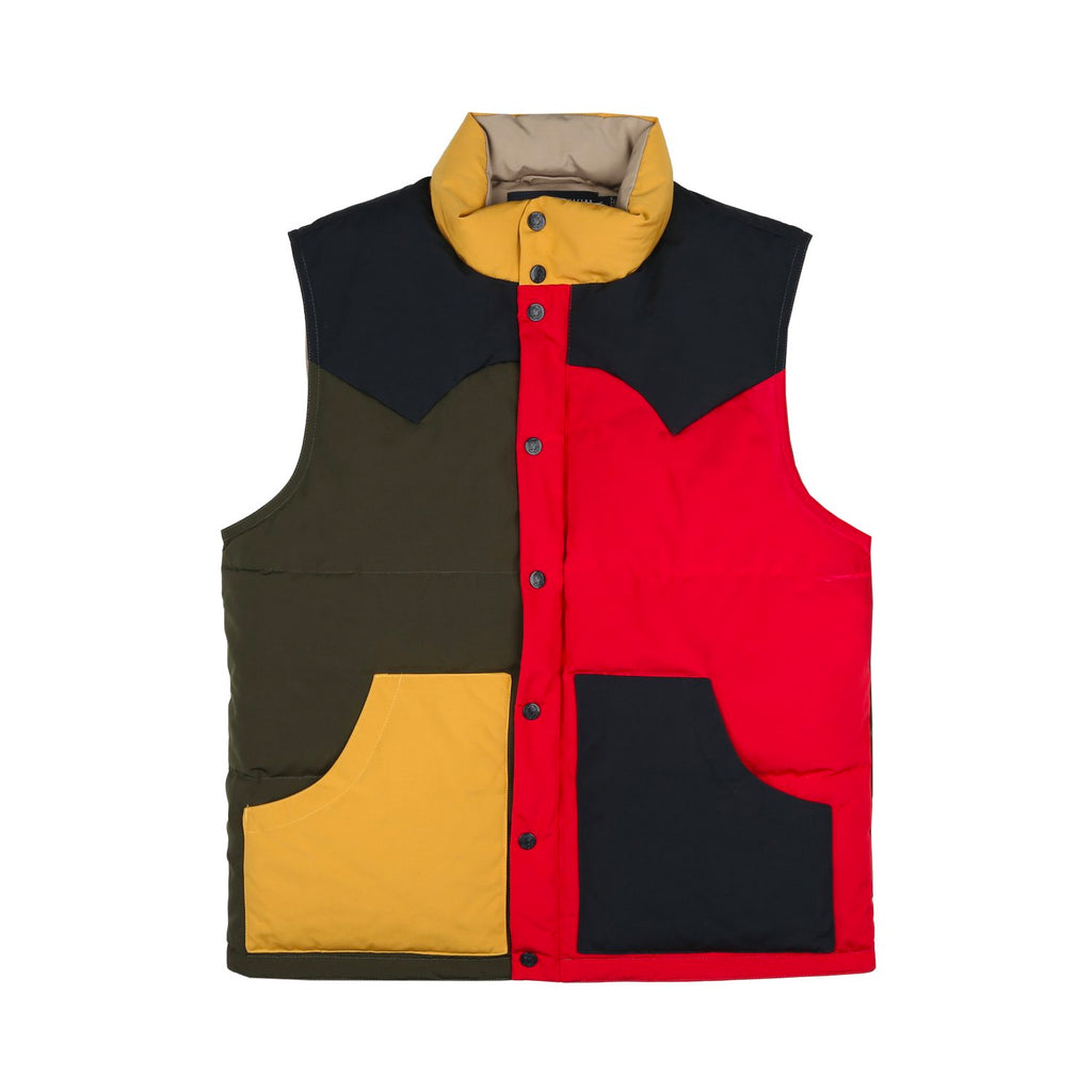 COLOUR BLOCK DOWN VEST