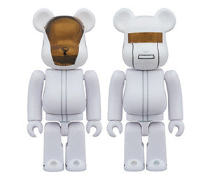 Medicom 100% Daft Punk White Set