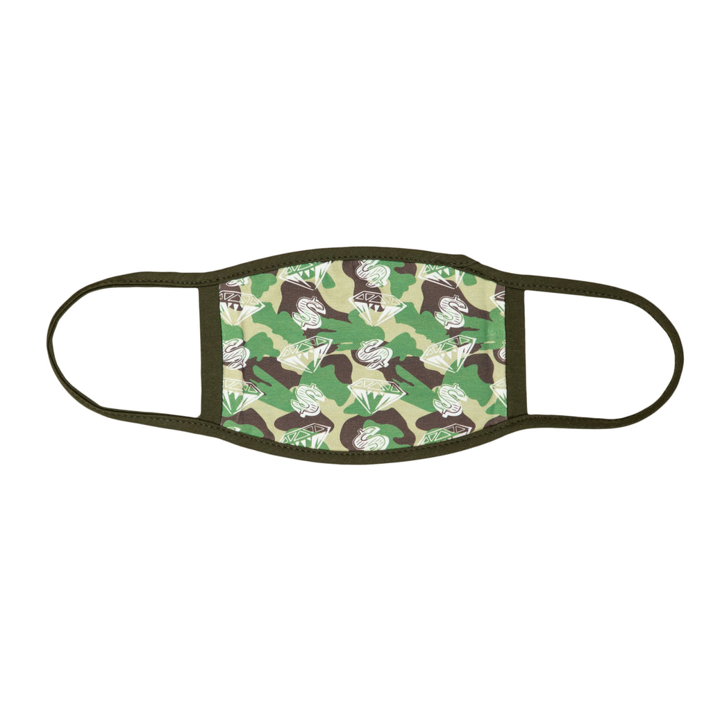 DIAMOND & DOLLAR CAMO FACE MASK